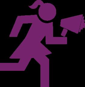 megafonlu kadın
